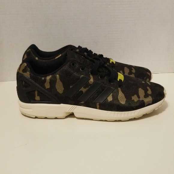 free shipping ce28a 37d32 Adidas ZX Flux Milan Forest Camo NO BOX